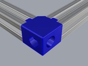 Corner 2 ways extrusion aluminium 20x20 (2020)