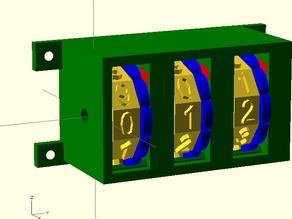 Customizable, Fully Parametric Thumb-wheel Combination Lock