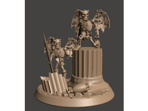 Skeleton Evil little Imps / demons - 28mm Undead