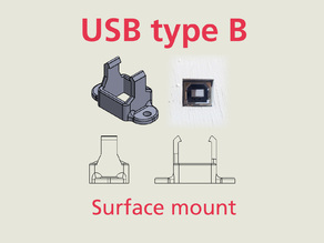 USB type B surface mount for Arduino