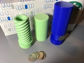 Knurled Twist Container