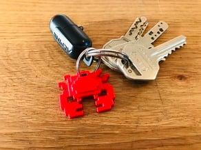 8 bit Crab Keychain