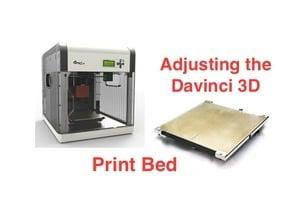 Test Print for Adjusting Davinci 1.0 Heated Bed