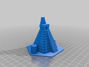 Temple pieces for the board game Tikal (reverse version)