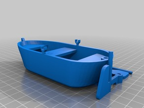 Row Boat w/ Adjustable Rudder and Oar Locks