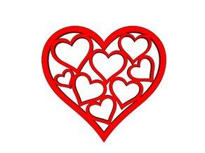 Valentines Heart Drink Coaster