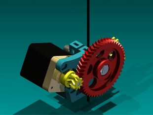 Fixed Fishbone Gears (47/9 double helix). Wade-Greg-Jonas Kuehling extruder