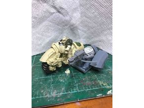 28mm Heresy Attack Bike Sidecar - Railfront version