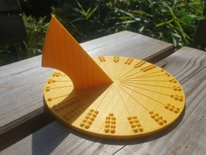Yet Another Customizable Table Sundial