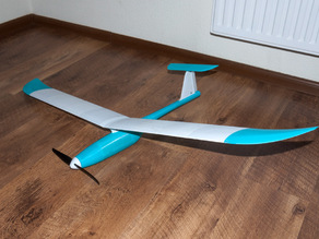Fully 3D printed sailplane model. optimized for 0.2 nozzle (weight reduction)