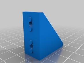 My Customized Parametric Aluminum Extrusion Angle Bracket