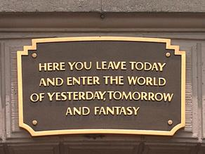 Walt Disney World Entrance Plaque