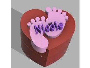 Heart box Nicole