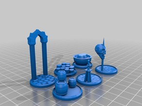 Figure Bases - Set 7 (25mm - 35mm miniatures)
