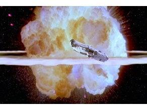 Death Star Explosion Lithophane