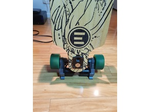 Evolve skateboard belt cover stand