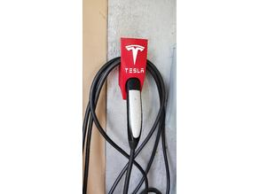 Tesla Mobile Charger & Cable Holder with Logo and Letters
