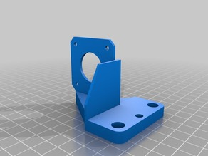 ENDER 3 / CR-10 Direct Extrusion Mount E3D Titan extruder angeled +6mm