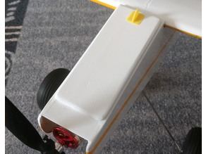 Grip for magnetic hatches on RC models