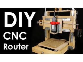 DIY CNC router with wood frame