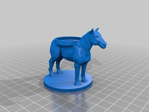 Horse Mount for 28mm Miniature