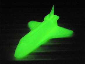 printable glowing in the dark space shuttle