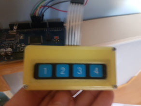 1x4 Membrane Keypad Case, Arduino.
