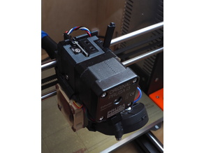 Prusa Mk3s extruder using an indirect Mk3 filament sensor.