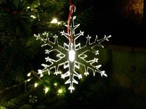 led-lit snowflake