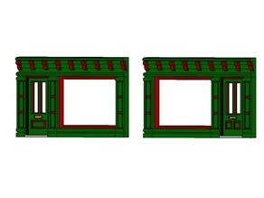 SCALEPRINT SINGLE SHOP FRONTS LEFT AND RIGHT 00/HO SCALE
