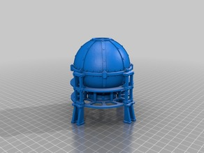 Gas tank with frame