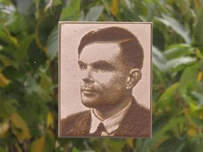 Alan Turing Lithophane