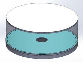 Modular filament roll dryer (dehumidifier) using only a 50mmx15mm fan and silica gel cat litter
