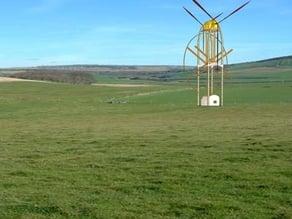 Concept of a project of a terrestrial platform multiprodutora wind power