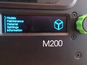Solid 3D printing ® knob for Zortrax M200