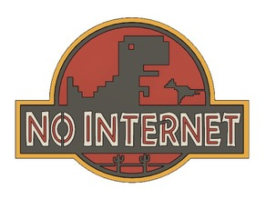 NO INTERNET - CHROME DINO (MULTICOLOR)