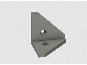 Internal Angle Bracket (counter sunk holes)