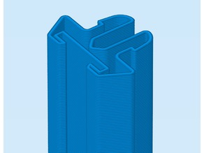 AM8 - Simple led (8mm/10mm) strip rail clip (2020 aluminium profiles)