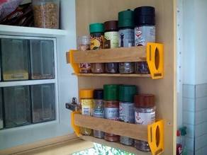 Customizable Spice Shelf
