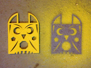 Owl Shapes Stencil