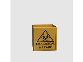 Biohazard waste pot , biyolojik tehlikeli atık
