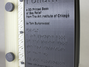 Folium a 3D Printed Book of Bas Relief from the Art Institute of Chicago