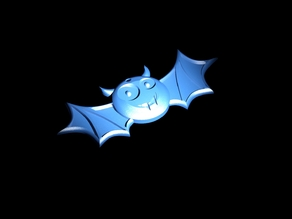 Halloween Bat with Smile