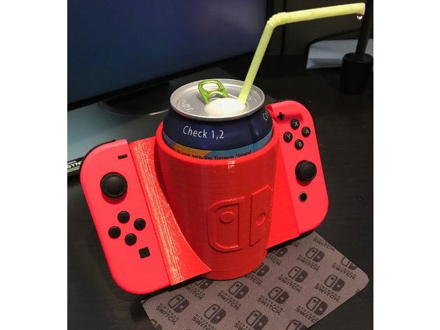 nintendo switch joy con drink holder by sanzliot thingiverse