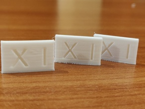 Test smooth for 3d printers