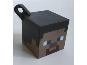 Steve head keychain