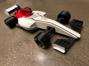 Open RC F1 FIA Formula 2 mod with Bell HP7 helmet