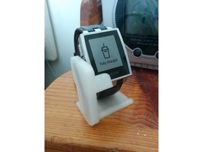 Pebble Steel charge dock and stand