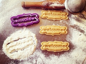 Welcome Frame Cookie Cutter
