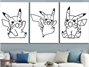 Pikachu pokemon decoration (no support needed)